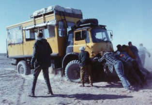 Overland truck in Pakistan