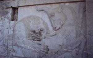 Bas relief in Persepolis
