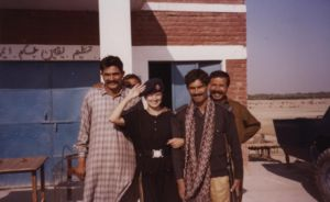 Me with Zafar at the Sind-Punjab border swapping uniforms