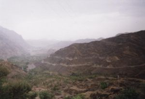 The Khyber Pass, Afghanistan clearly in the background