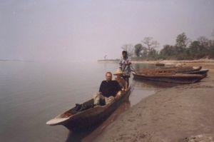Our canoe ride in Chitwan