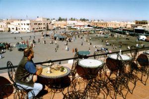 Roof top caf�, Marrakesh